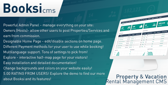 Booksi v1.27 – Property & Vacation Rental Management CMS