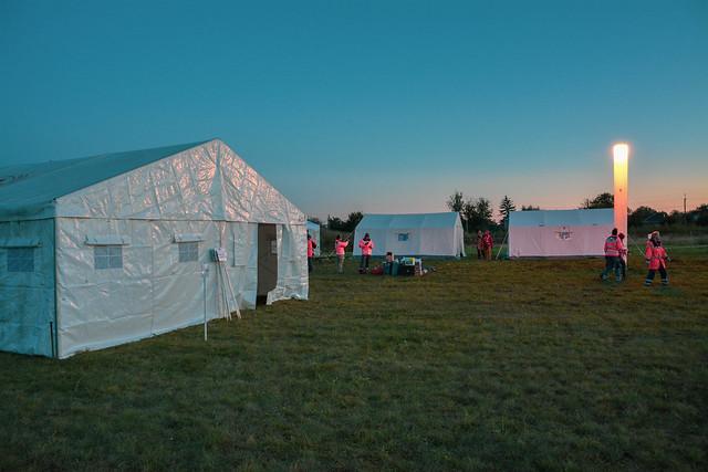 Навчання із практичним розгортанням табору для біженців (с. Гора)