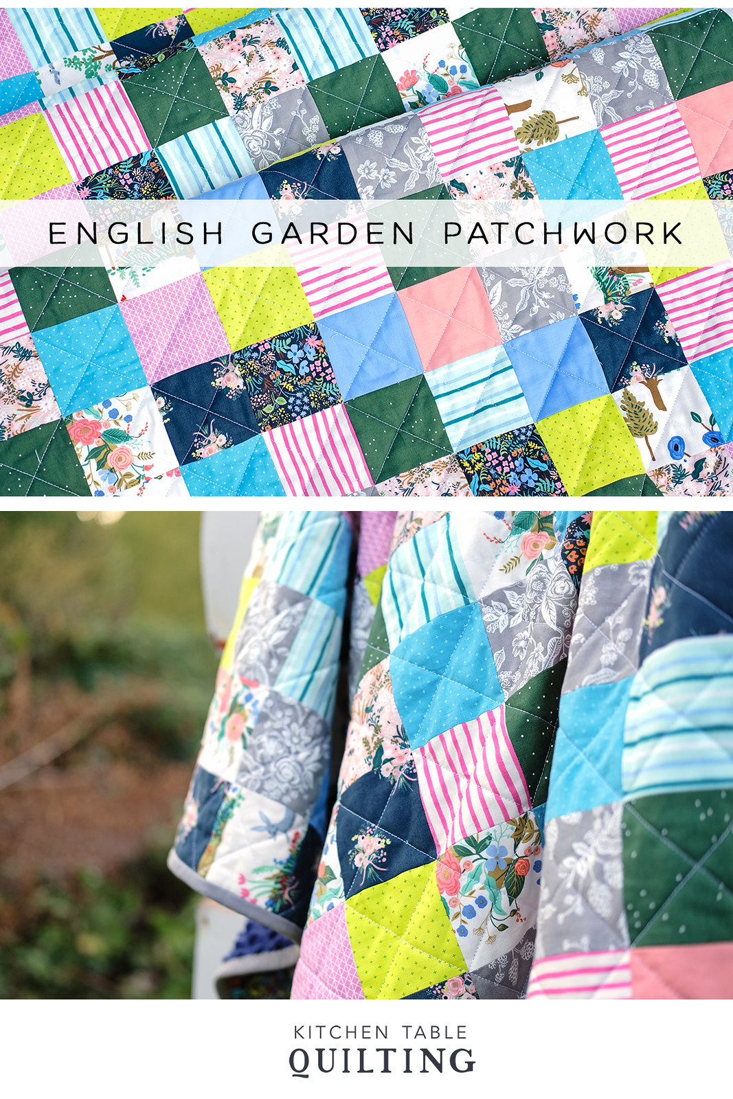 English Garden Patchwork - Kitchen Table Quilting