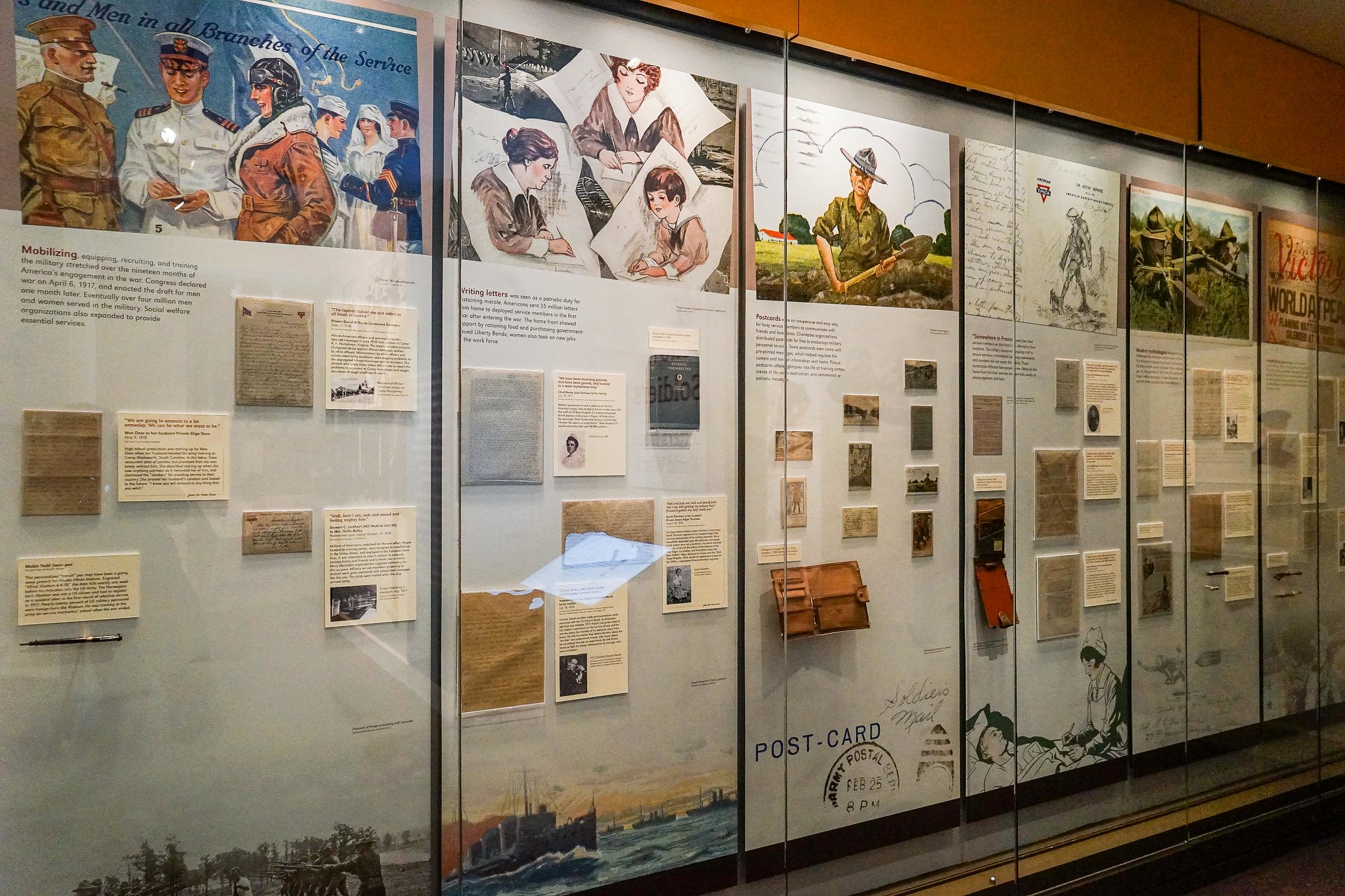 Letters from World War I exhibit at the Smithsonian National Postal Museum in Washington, D.C. Photo taken on April 4, 2017.