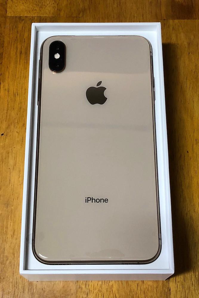 iPhoneXS Maxの背面