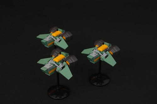 Celestial Barracuda - Green Fighter Team