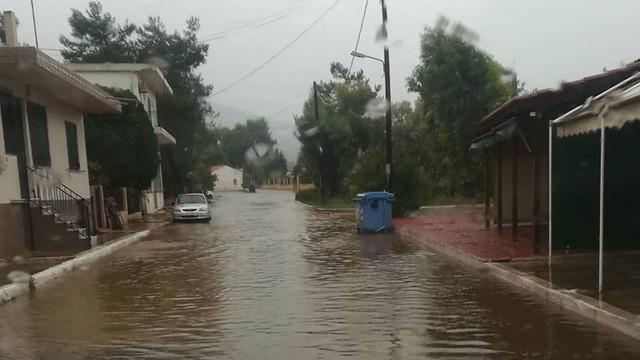 Πλημμύρες σε Φθιώτιδα και Εύβοια