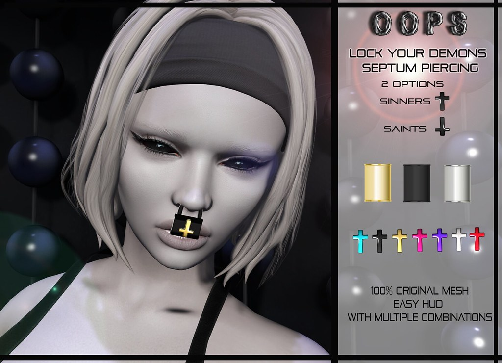 ::OOPS:: Lock Your Demons - Septum Piercing - TeleportHub.com Live!