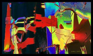"""Sculpture After Mark di Suvero, Surreal Treatment"" (framed version)"