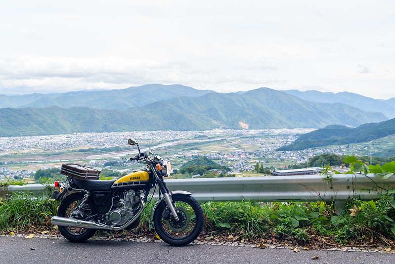 Overlooking the Chikuma River,at Obasute NAGANO