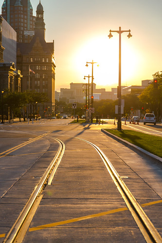 Sunset on Streetcar Tracks