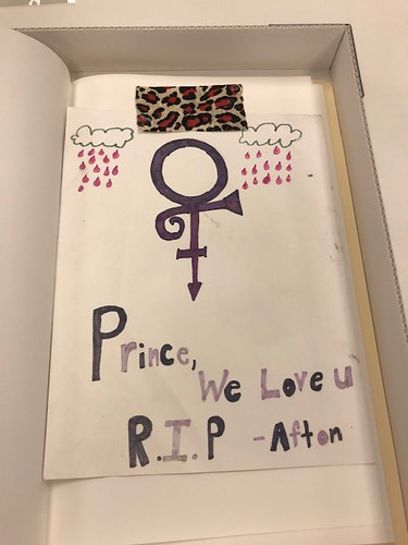 Ephemera left at Prince's Minneapolis residence when he passed away