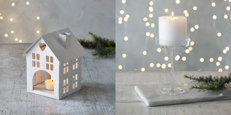 The White Company Christmas Candle Holders