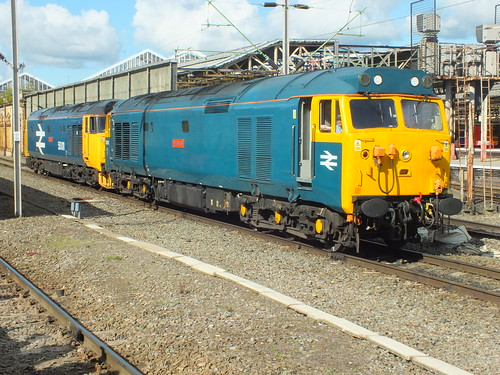 50006 with 50011 at Crewe with GBRFs 2018 Out of the Ordinary tour