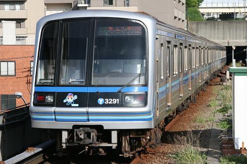 Yokohama Municipal Subway 3000A series in Kaminagaya.Sta, Yokohama, Kanagawa, Japan / May 19, 2018