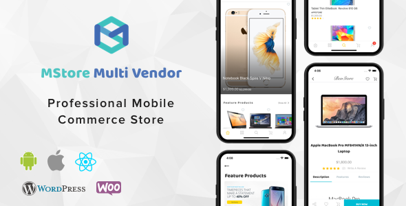 MStore Multi Vendor v1.2.2 - Complete React Native template for WooCommerce
