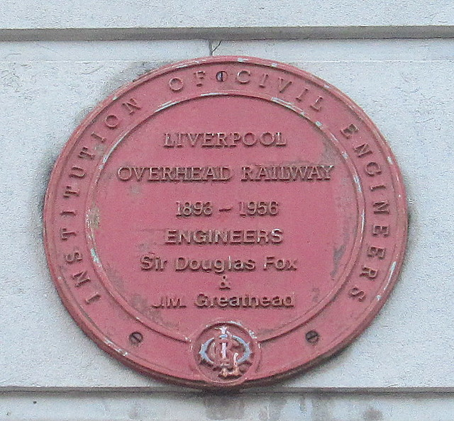 Plaque, George's Dock Ventilation and Control Station, Liverpool