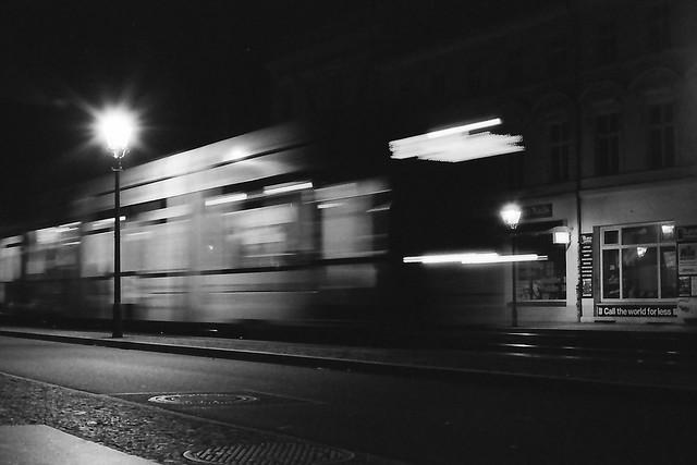 Tram bei Nacht, Canon EOS 3