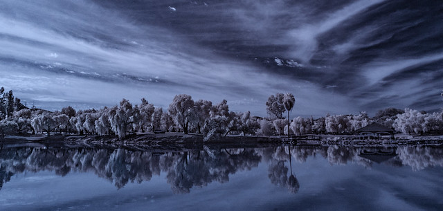 Lindo Lake Panorama in Infrared