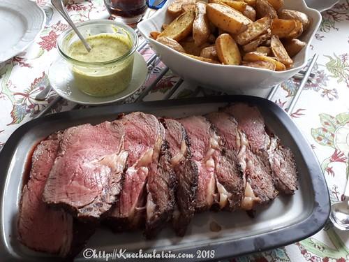 Roastbeef mit Ofenkartoffeln und Safran-Dip (2)