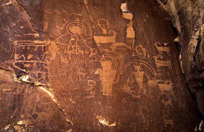 Big Fremont Petroglyph Panel
