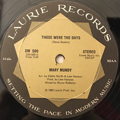 MARY MUNDY:THOSE WERE THE DAYS(LABEL SIDE-A)