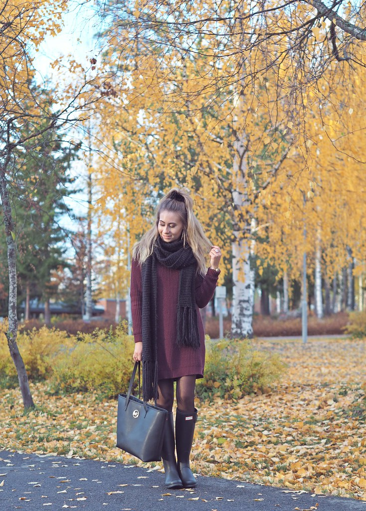 hunter boots outfit ideas