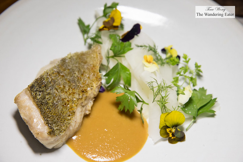 Black cod fish with miso, pickled daikon