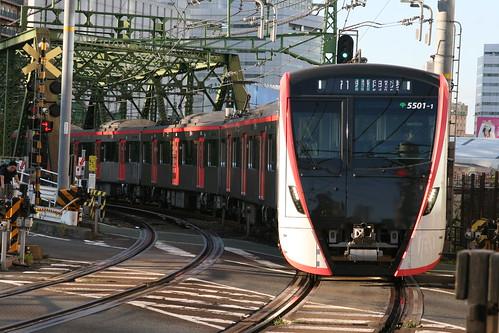 Toei 5500 series near Kita-Shinagawa.Sta, Shinagawa, Tokyo, Japan /October 27, 2018
