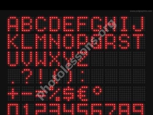 LED текст в PSD формате