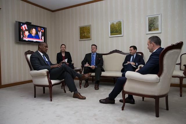 Întrevederea președintelui Andrian Candu cu Dereck J. Hogan, Ambasadorul SUA în Republica Moldova