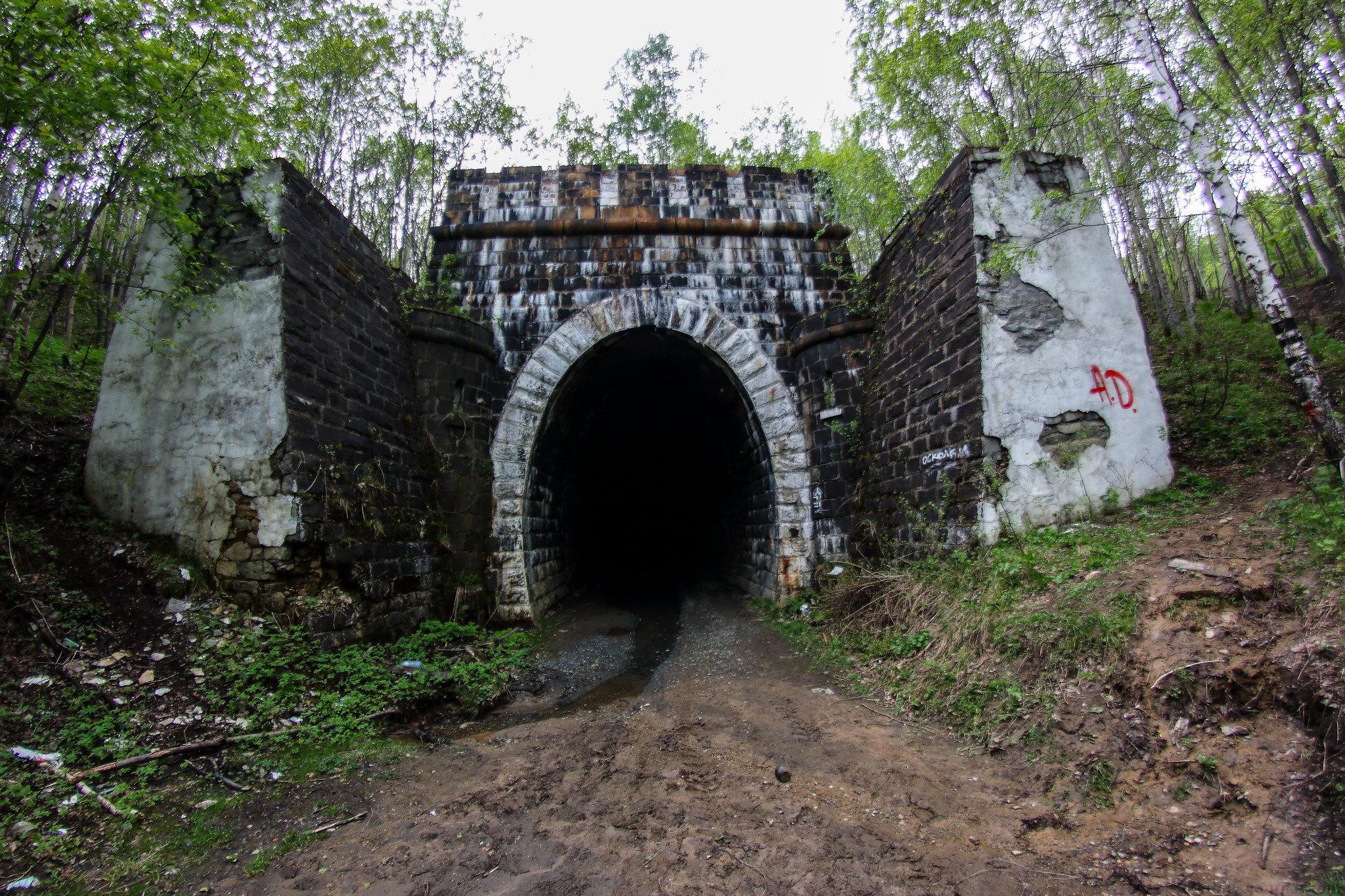Заброшенный железнодорожный тоннель в Дидино (Дидинский тоннель, Свердловская область)