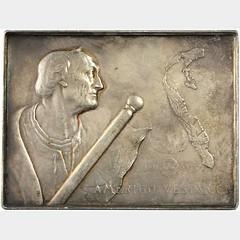 1903 Amerigo Vespucci Plaque obverse