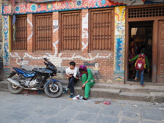 Young couple in the street of Kathmandu