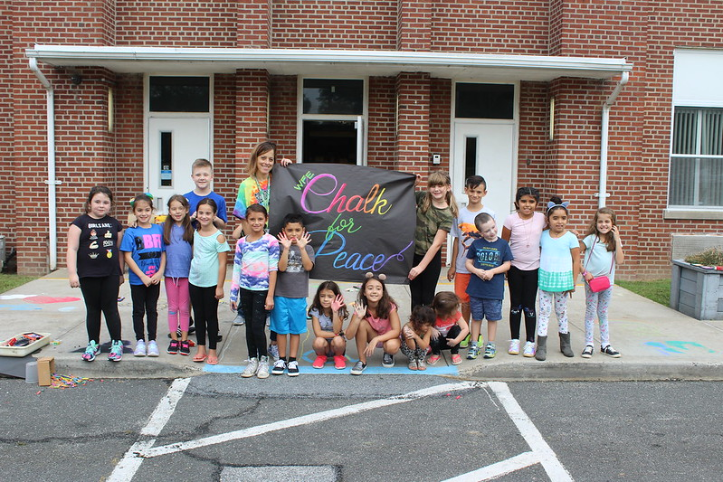 William Floyd Elementary Chalk for Peace 2018