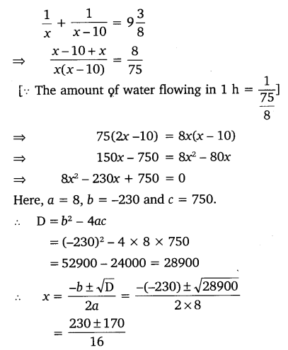 NCERT Solutions for Class 10 Maths Chapter 4 Quadratic Equations 33