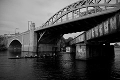 BU Bridge in B&W
