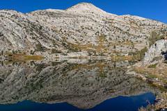 Upper Rae Lake reflection view
