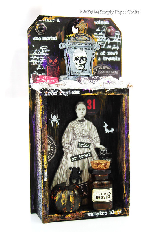 Meihsia Liu Simply Paper Crafts Mixed Media Spooky Halloween Simon Says Stamp Tim Holtz 1