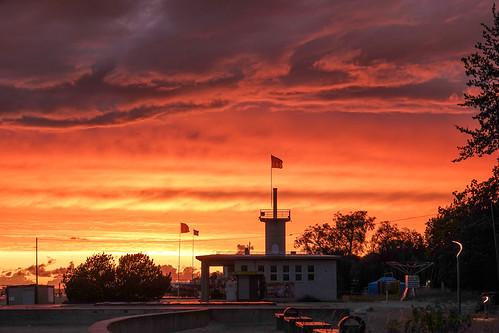 viro estonia eesti pärnu sunset auringonlasku