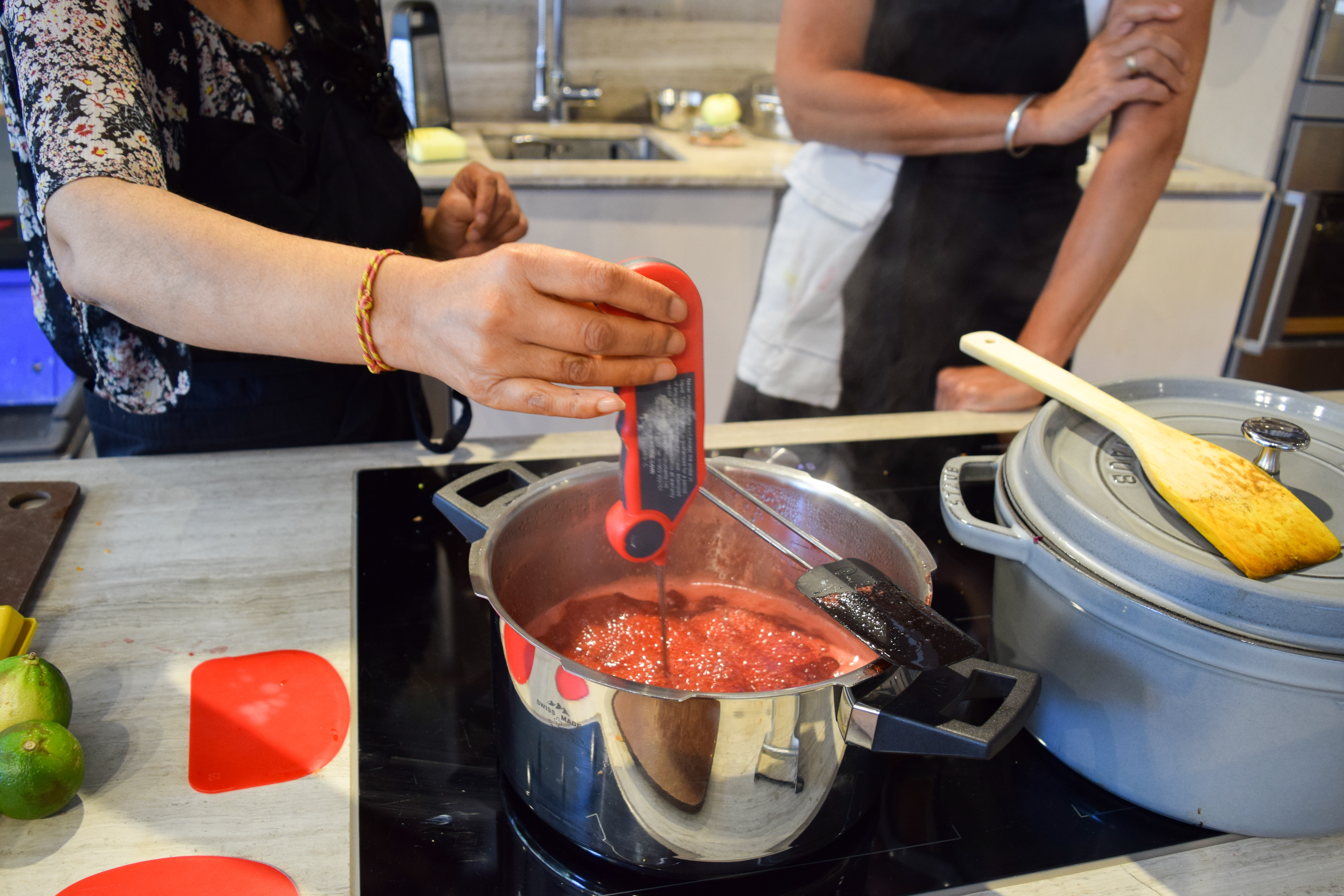 Making Strawberry Jam at the Jam and Preserves Masterclass at Borough Kitchen