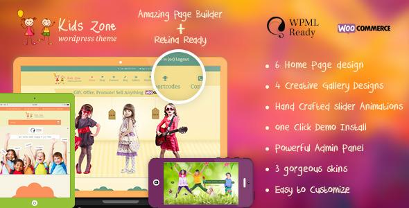 Kids Zone v5.1 - Children & Kids WordPress Theme