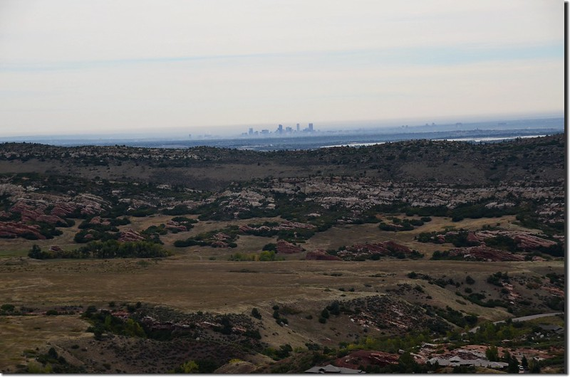 Looking northeast at downtown Denver from Deer Creek Canyon Park (4)