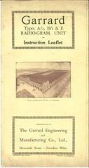 Garrard Type A B E Leaflet