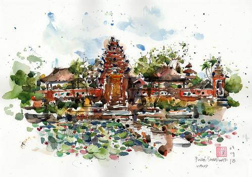 Sarawasti Temple, Ubud