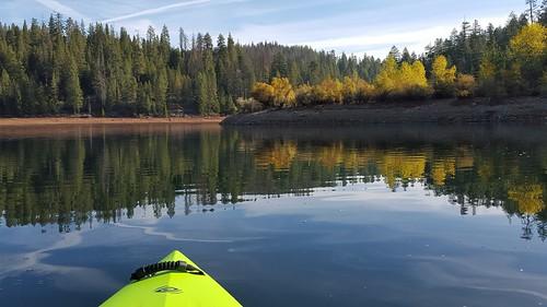 sugarpinereservoir kayaking fall water trees reflection scenic nature lake flatwater paddling photopaddling