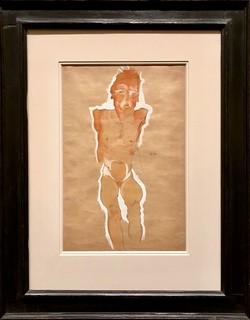 Nu masculin aux bras coupés, 1910, Egon Schiele