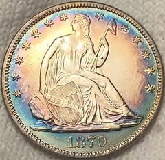 eBay 1870 half dollar
