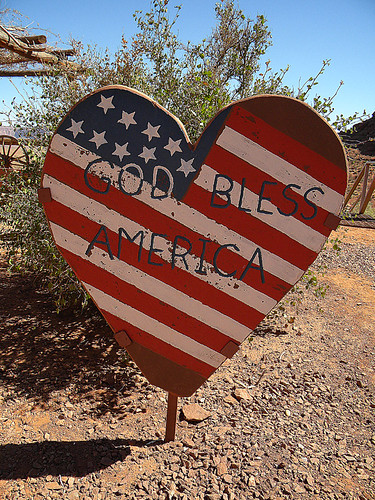 God Bless America Sign in the American Southwest