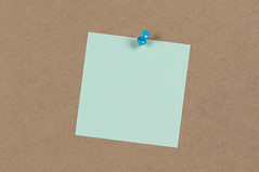 Blue Sticky Note on Displayboard