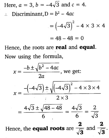 NCERT Solutions for Class 10 Maths Chapter 4 Quadratic Equations 41