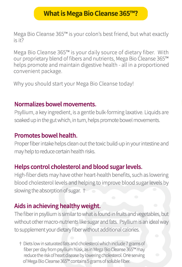 Mega Bio Cleanse 365™ - NEW!
