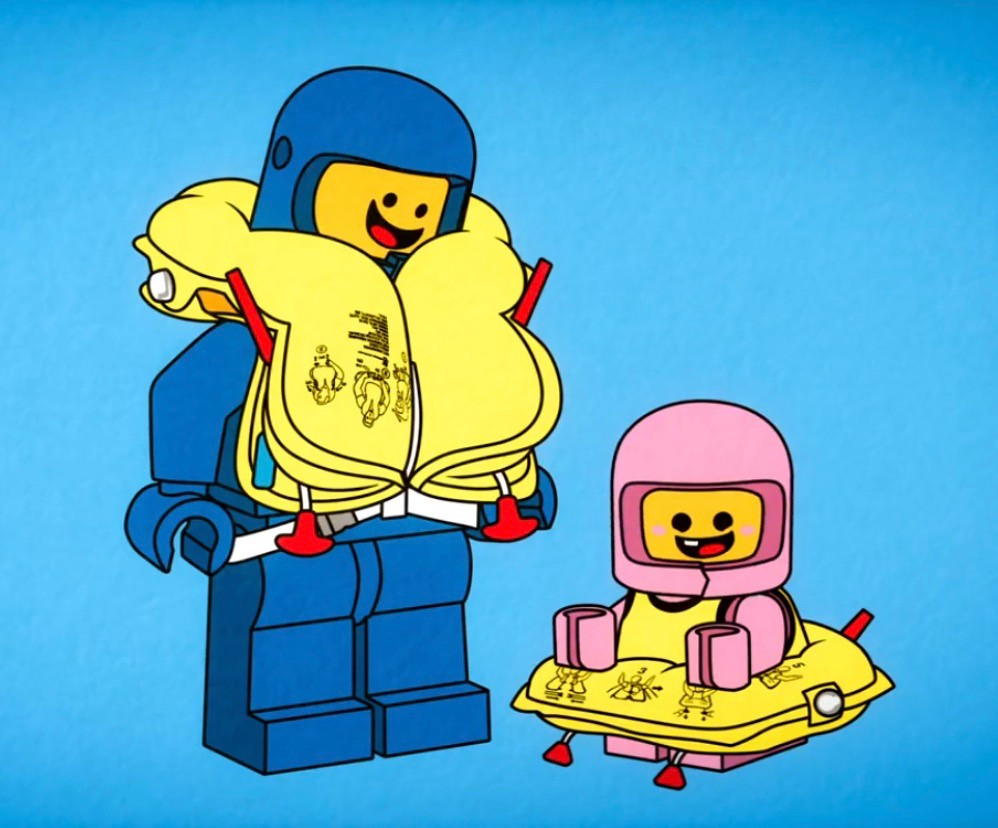 Pink Lego Space Baby