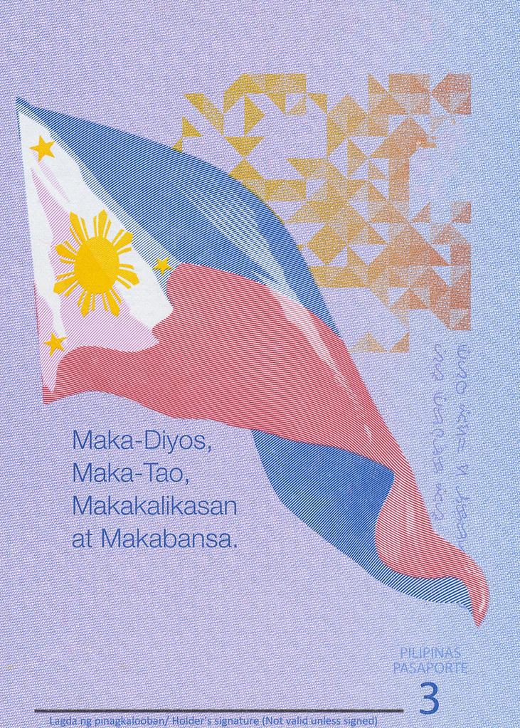 Maka-Diyos - Philippine Passport - Page 3
